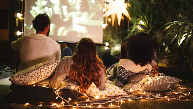 News Shopper: Sit back and relax with a projector and outdoor screen. Credit: Getty Images / M_A_Y_A