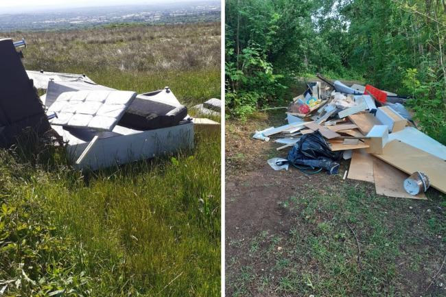 Photo issued by Woodland Trust of fly tipping after a huge increase in litter and fly-tipping in woodlands during lockdown has 'put nature at risk', including at one site in Gravesend.