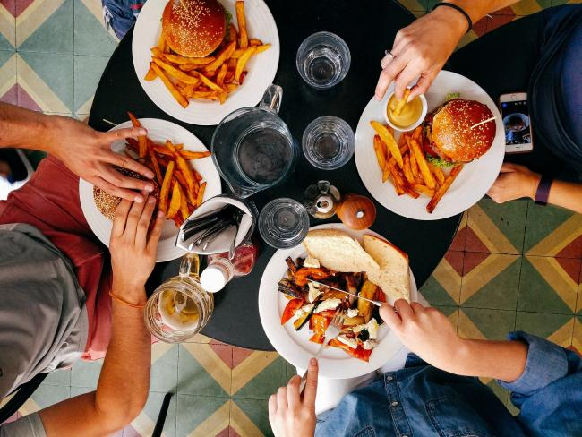 The survey found that the vast majority of people missed eating out(Photo: Pixabay))