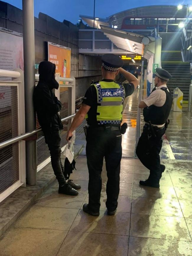 Met Police and British Transport Police have arrested two males after Operation Avara at Lewisham Station