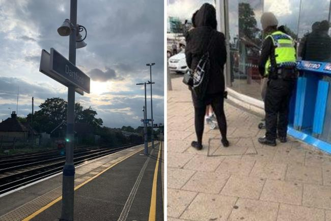 Met Police, Kent Police and BTP arrested three males at Dartford station, part of Operation Avara, targeting crime in south east London.
