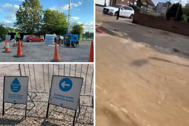Thames Water have set up water stations in Eltham and Blackheath after a burst water pipe has left residents in south east London without water