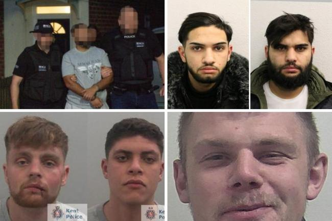 Jailed in July across south east London.