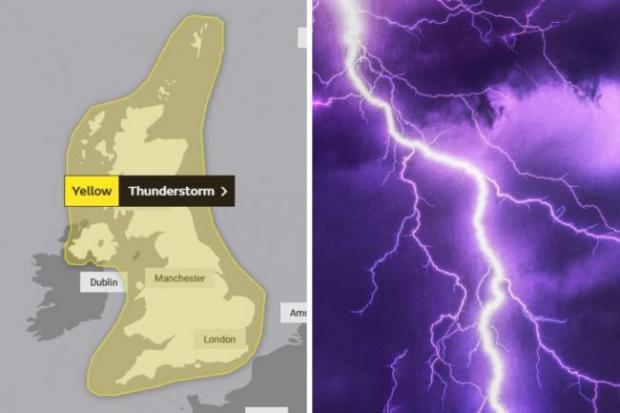 News Shopper: The Met Office said the south east would experience thunderstorms between Wednesday and Thursday