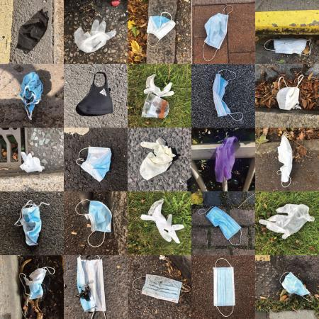 Bromley man photographs series of face masks littered across borough