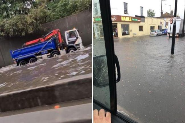 Thunderstorm warnings in place after drivers stranded by 'biblical' rain on M25