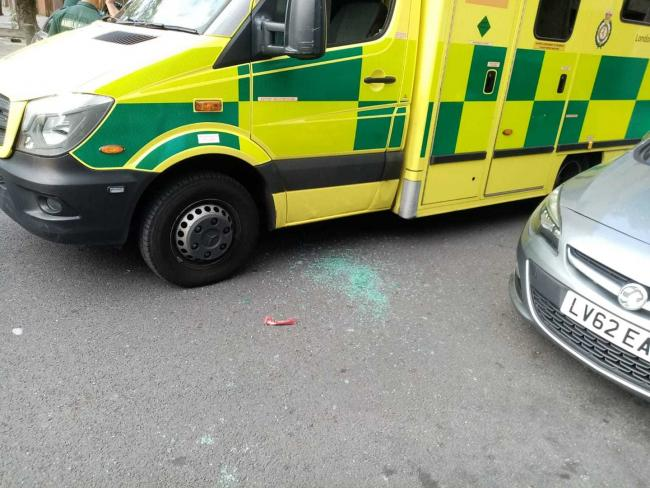 A LAS ambulance has been damaged and property stolen after it was called out to treat a child in Erith/Thamesmead, south east London.