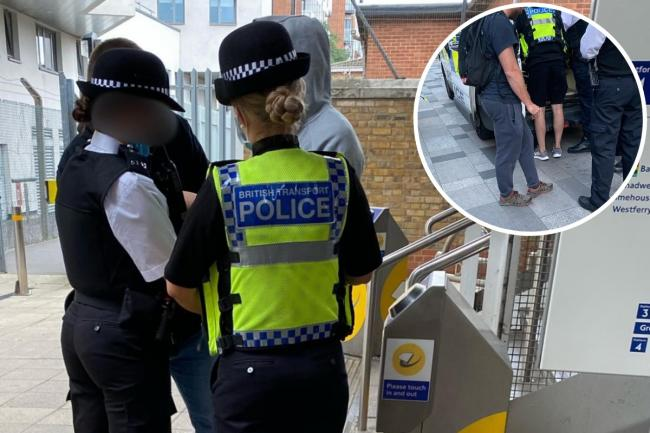Two men have been arrested in a Met Police and British Transport Police operation at Greenwich Station, south east London.