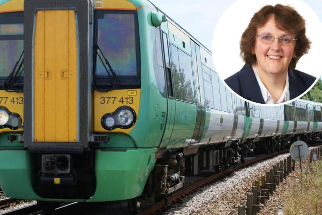 Bexley leader Teresa O'Neill (inset) has lobbied Thameslink for two new riverside stops on the rail line in her borough. Image: Thameslink