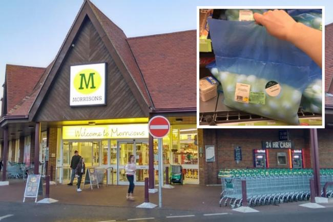 A Morrisons shopper discovered a bag of