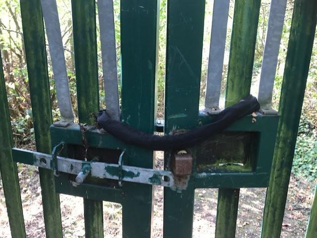 New lock on Ringway Centre gates