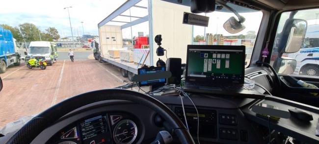 Kent Police said this lorry driver was pulled over at the Dartford Crossing.... for playing solitaire.
