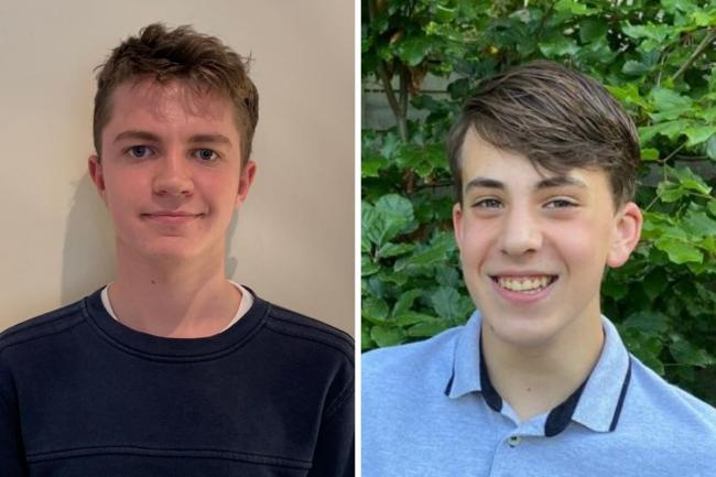 Top Reporters for 2019/20 - Josh Bartholomew from Hampton School and Nicholas James from Wilson's School