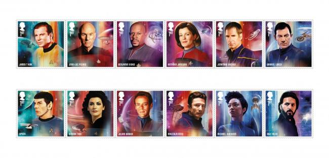 Star Trek: Royal Mail release special stamps to celebrate 50 years of the hit sci-fi show, Pictures: Royal Mail/PA Wire