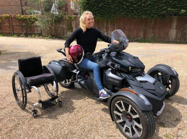 TV star Sophie Morgan has been reunited with her specially adapted motorbike after it was stolen in south east London.