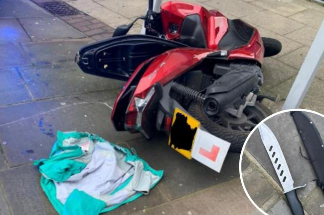 Police pursued a 17-year-old on a stolen moped along Lewisham High Street on Remembrance Sunday