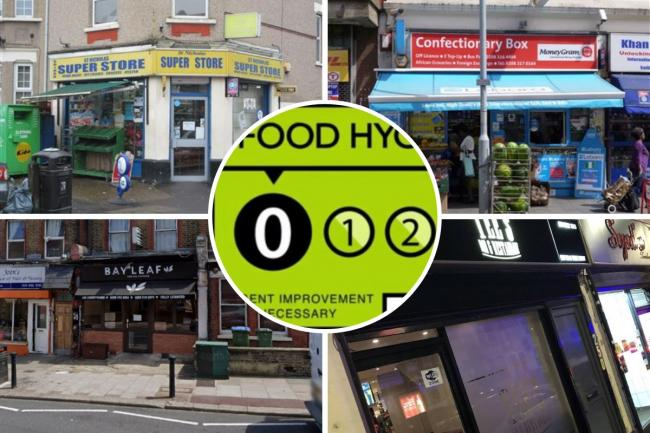 Food hygiene ratings in Greenwich and Bexley