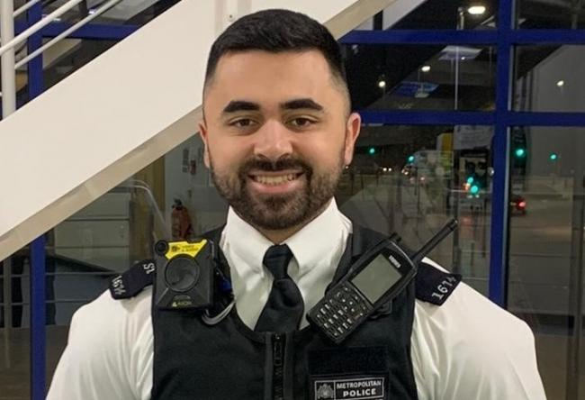 PC Jayden Kamber - image supplied by Metropolitan Police