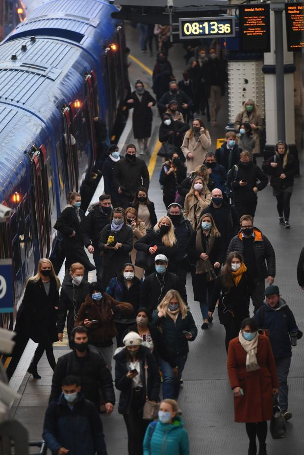 Be prepared for busy trains as everyone rushes to travel during the Christmas bubbling period. (Victoria Jones/PA Wire)