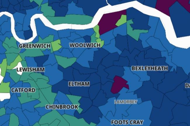 Map reveals which specific areas in SE London are Covid hotspots prior to Tier 2