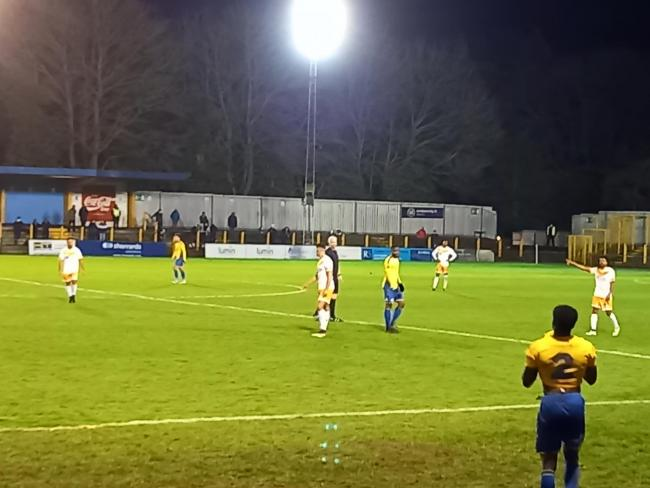 Cray Wanderers travelled to St Albans City for their 2nd Round FA Trophy tie but despite a sterling effort it was the National South leaders St Albans who went through