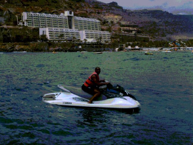 Richard Charles seen jetskiing in a picture on social media