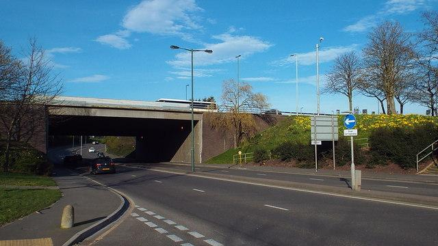 The A2 Danson Underpass in Bexley. Image- © Malc McDonald
