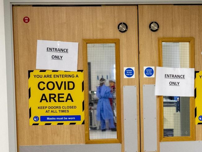 Hospitals across the country are overstretched beyond even the levels of last March due to the number of Covid-19 patients. PA