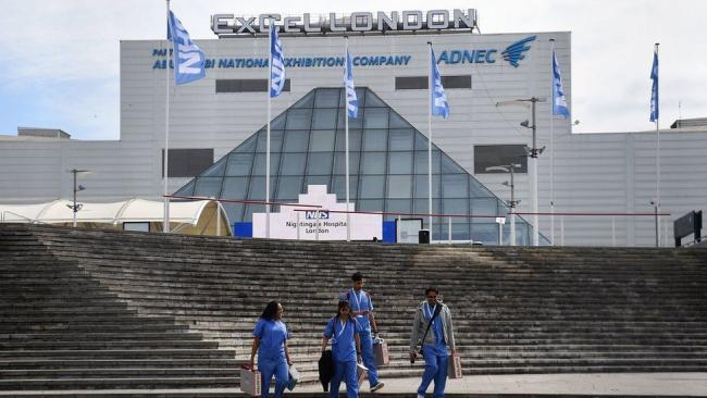 The ExCel Centre in London, to be used as one of the UK's latest major vaccine hubs.