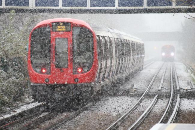 Train services across south east London have been hit by the snow - PA