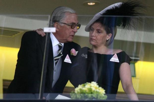 News Shopper: The Countess of Wessex, pictured with her father Christopher Rhys-Jones at Royal Ascot
