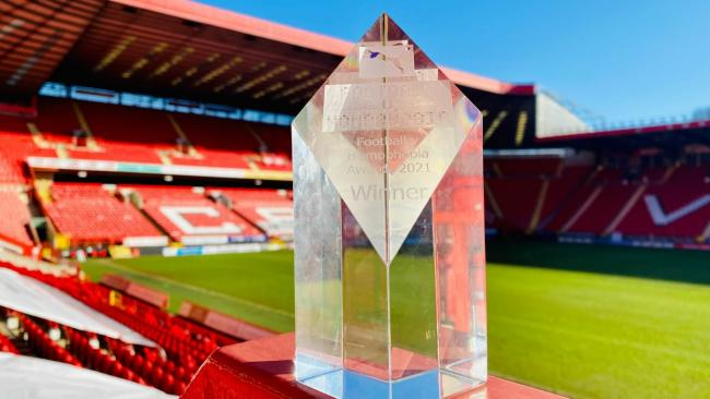 Charlton Athletic win the Professional Game Award at the Football v Homophobia Awards