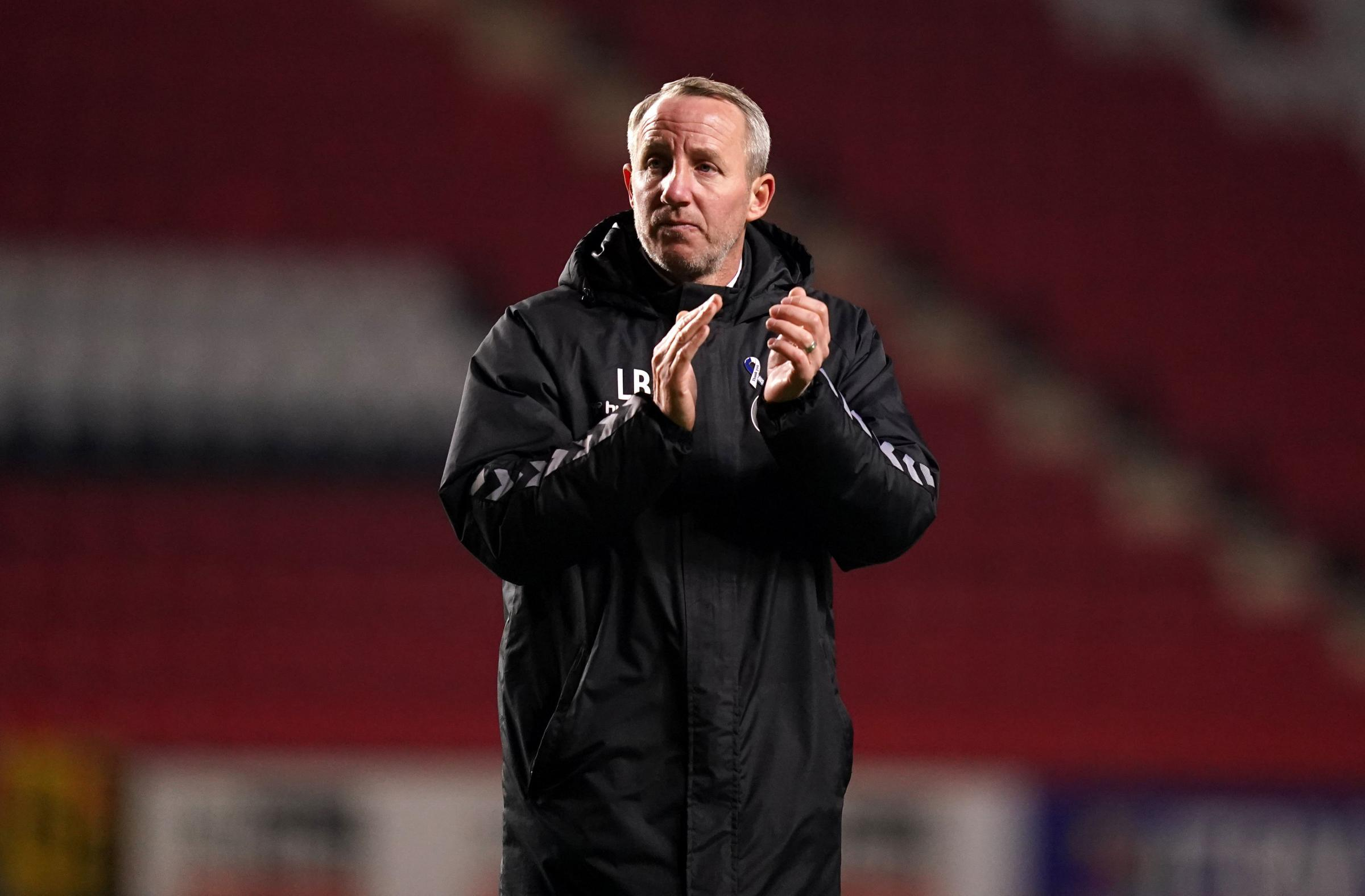 Charlton Athletic manager Lee Bowyer. John Walton/PA Wire.