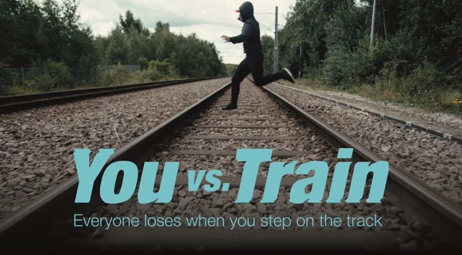 Network Rail are running a You vs Train campaign