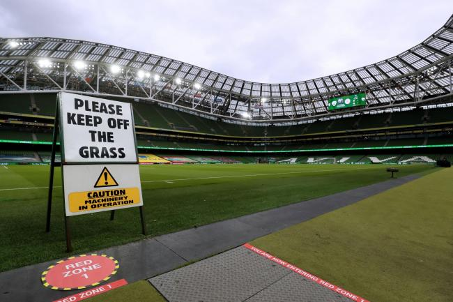 A general view of the Aviva Stadium in Dublin