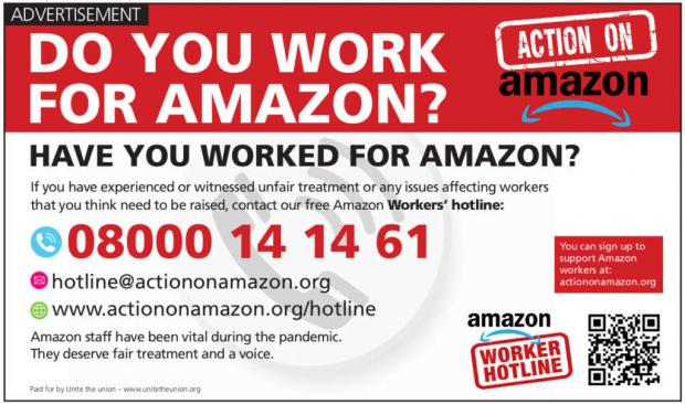 News Shopper: The details of the new hotline for Amazon workers