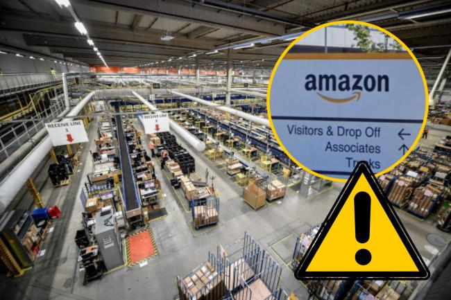 Unite has launched a hotline for Amazon workers to report 'poor treatment' and will be out today across the UK promoting the campaign