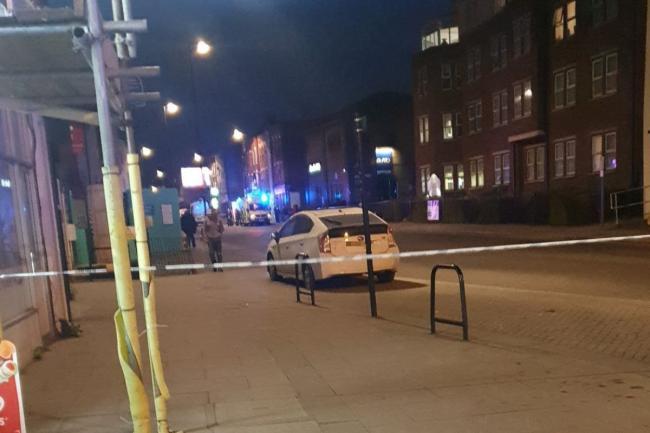 Police cordon pictured at Sydenham High Street Credit: @Ba_Ba_Bang