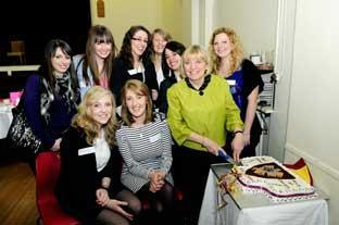 News Shopper: Linda Hutchinson with some of her former students at her farewell party
