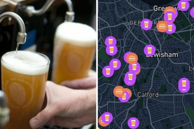 Tool lists 40 pubs offering outdoor service in south east London this weekend