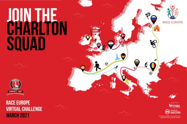 Charlton Athletic have taken part in the Race Europe event