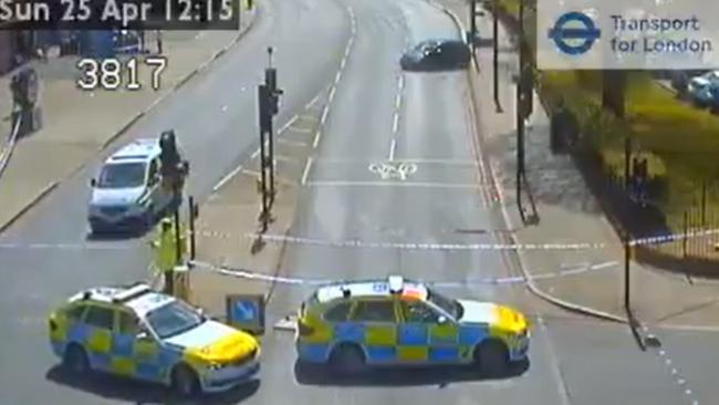 TfL CCTV footage of the scene