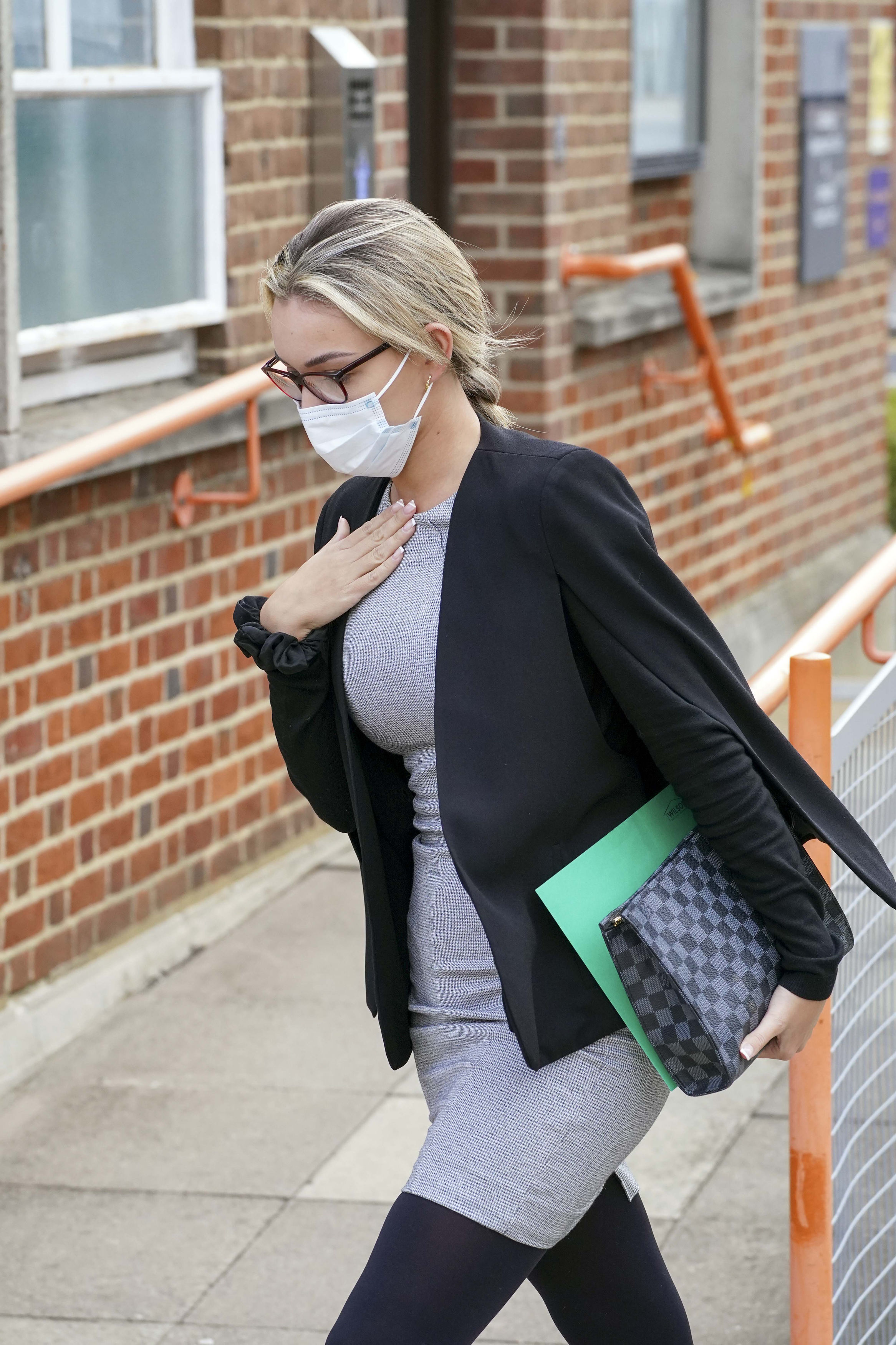 Beaux Greenslade, of Bexleyheath, leaves Uxbridge Magistrates Court, west London. Steve Parsons/PA Wire.
