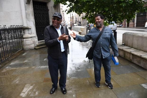 News Shopper: Paul Green (left) and Cleveland Davidson outside the Royal Courts of Justice in London (PA)