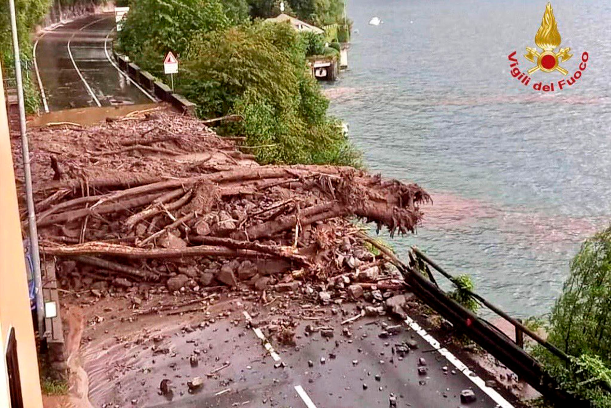 Towns around Lake Como hit by mudslides and floods