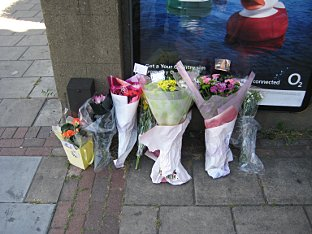 News Shopper: Flowers have been left at the scene