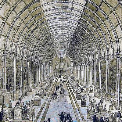 News Shopper: GRANDEUR: An illustrated London News drawing of the 1857 Manchester Art Treasures Exhibition. In 1858, William Barningham took the crystal palace to Albert Hill, Darlington, to use as his factory
