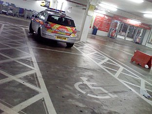 ORPINGTON: Cop car parks in disabled space