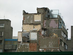 News Shopper: parts of the estate have already been demolished