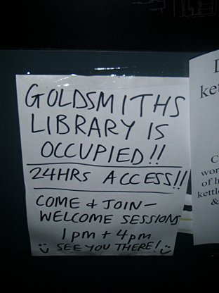 News Shopper: students occupy Goldsmiths library over tuition fees